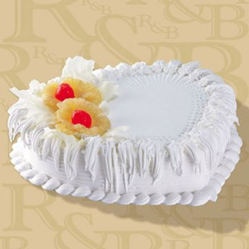 Pineapple Heartshaped Cake