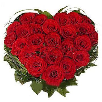 30 Red Roses Heart shape