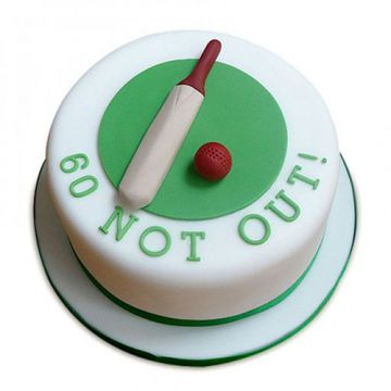 60 Not Out Cake