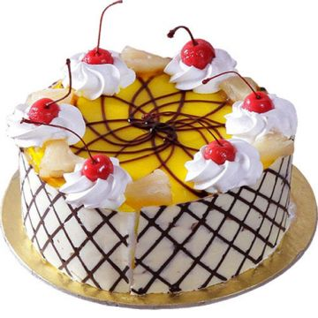 Pineapple with cherry on Top