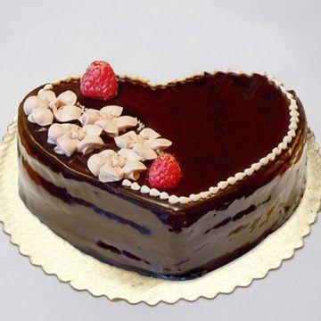 Heart shape Choco cake