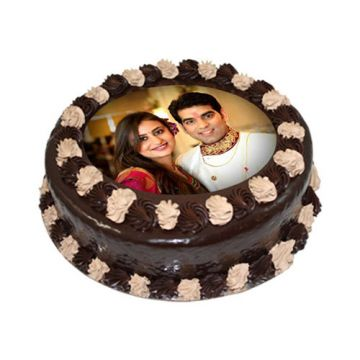 Couple Special Photo Cake