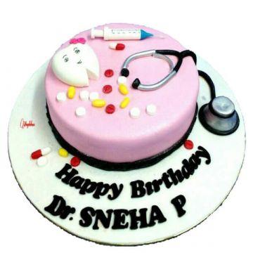 Birthday Doctor Theme Cake