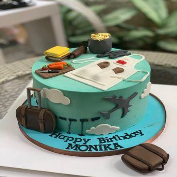 Birthday Traveller Cake