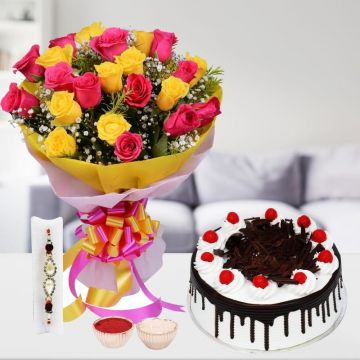 Blackforest with Roses and Rakhi