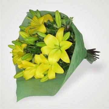 Bunch of Yellow Lilies
