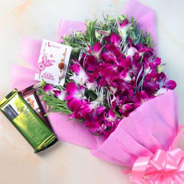 Chocolaty Orchids Rakhi