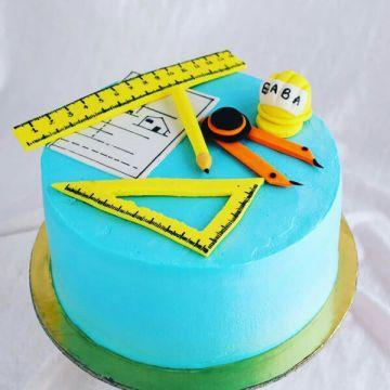 Civil Engg Theme Cake