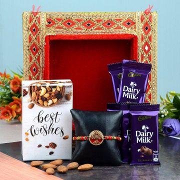 Dry Fruits and Chocolaty rakhi