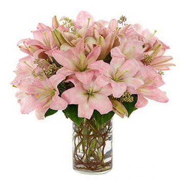 Light Pink Lilies Arrangement
