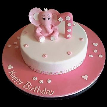 Pinky New Born Cake