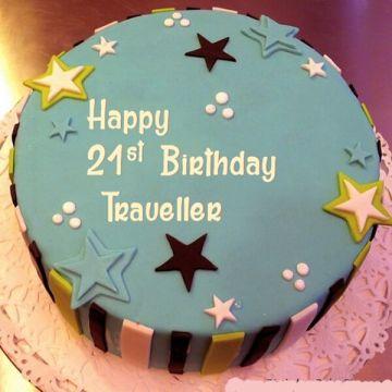 Traveller Birthday Cake