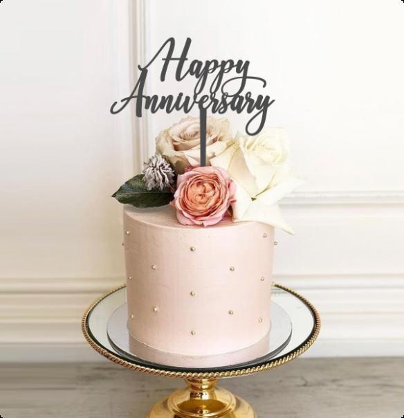 Vanilla cake with Fresh Flowers