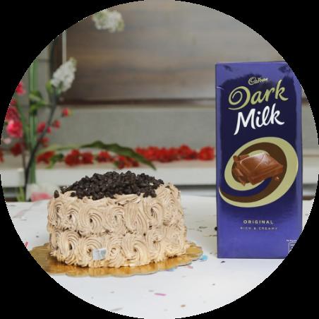 Chocochips cake with Dairymilk