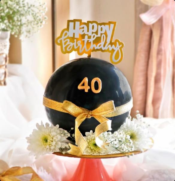 40th Birthday Pinata Cake