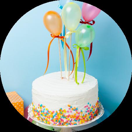 Vanilla Cake with Balloon